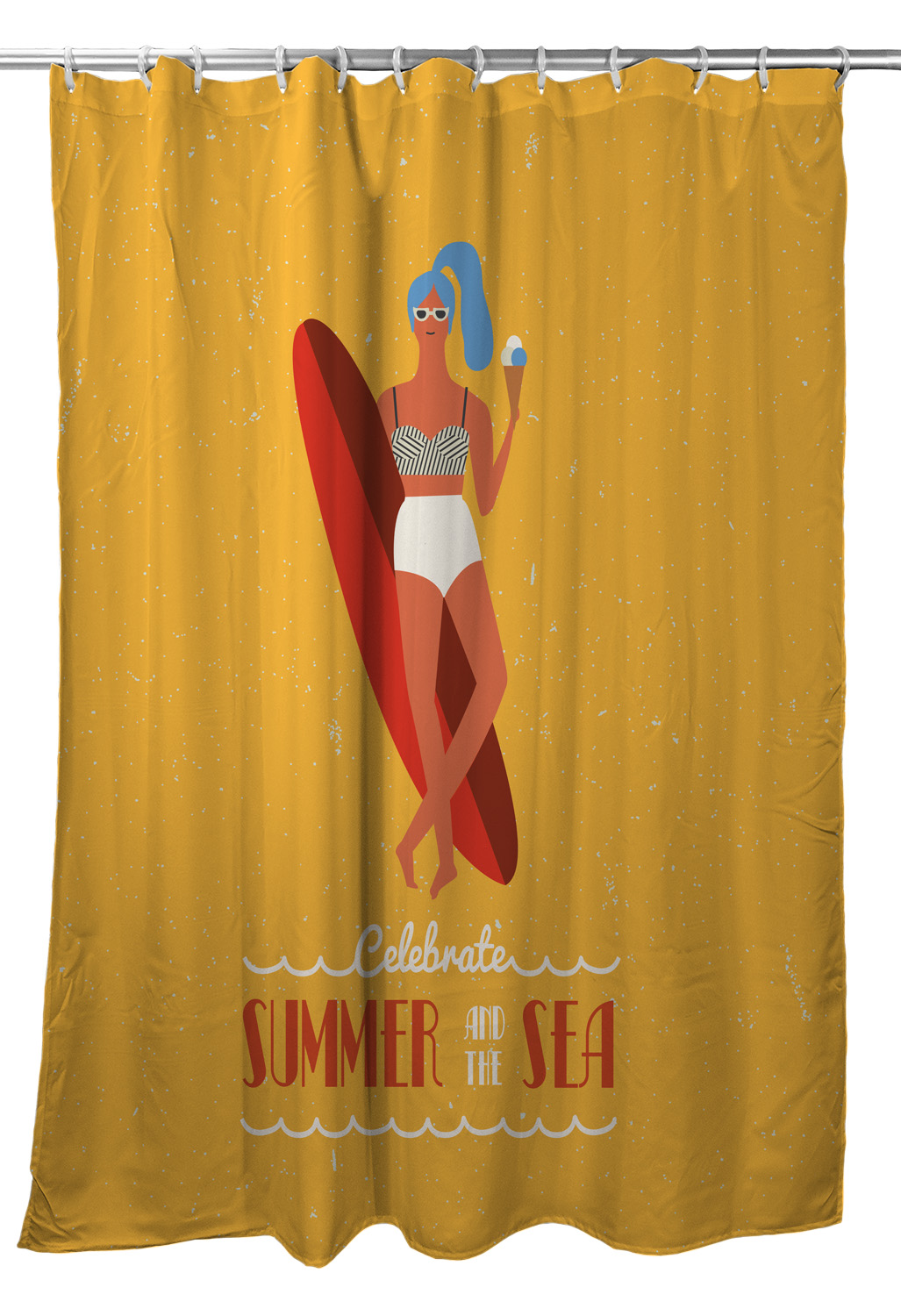 Surfer Girl Val Shower Curtain
