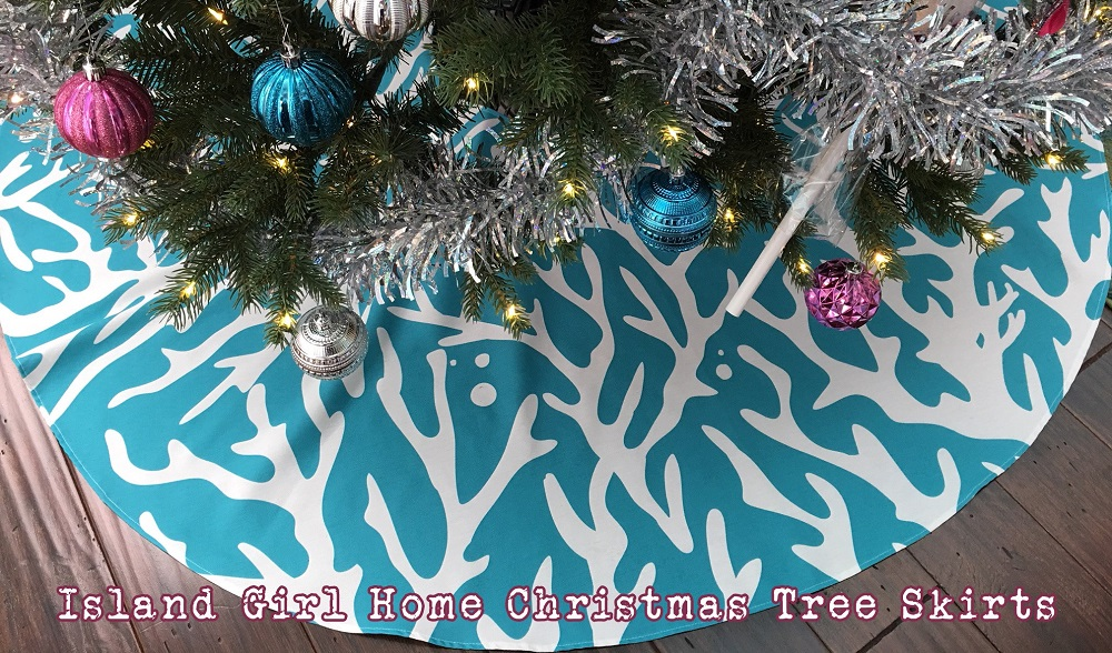 Island Girl Home Christmas Tree Skirts