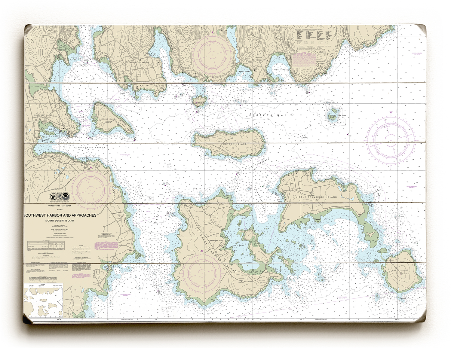 Maine Nautical Chart Signs