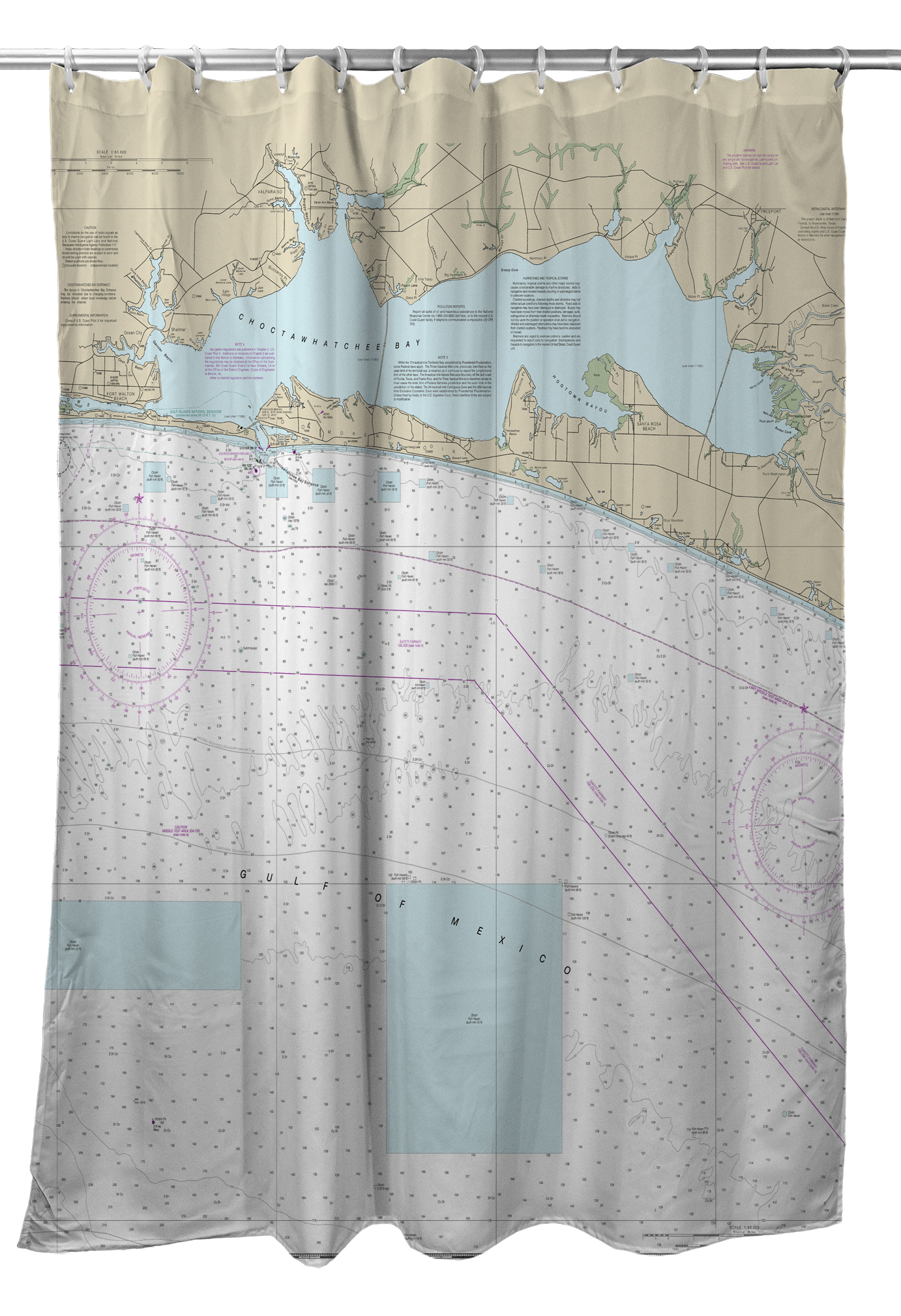 Florida nautical chart shower curtains gumiabroncs Images