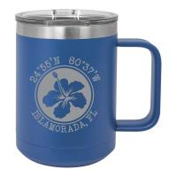 Custom Hibiscus 15oz Insulated Mug S/4