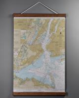 NY: New York Harbor, NY Nautical Wall Chart