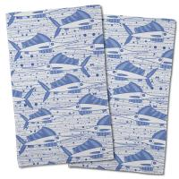 Sailfish School Blue Hand Towel (Set of 2)