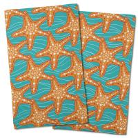 Starfish in Waves Hand Towel (Set of 2)