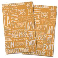 Beach Vacation Words Hand Towel (Set of 2)