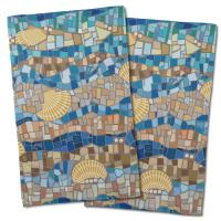 Shell Mosaic Hand Towel (Set of 2)