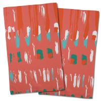 Tribal Coral Hand Towel (Set of 2)