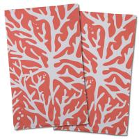 Sea Coral Hand Towel - Coral (Set of 2)
