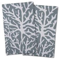 Sea Coral Hand Towel - Gray (Set of 2)