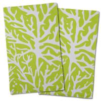 Sea Coral Hand Towel - Lime (Set of 2)