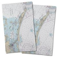 FL: Gasparilla Island, FL Nautical Chart Hand Towel (Set of 2)