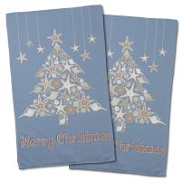 Seashell Christmas Tree Hand Towel (Set of 2)