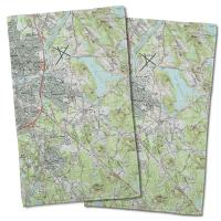 MA: North Andover, MA Topo Map Hand Towel (Set of 2)