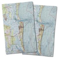 FL: Amelia Island (1981) Topo Map Hand Towel (Set of 2)