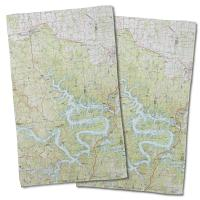 MO: Lake of the Ozarks, MO (1983)  Topo Map Hand Towel (Set of 2)