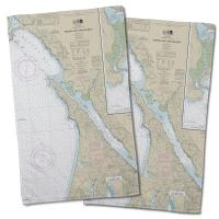 CA: Bodega and Tomales Bays, CA Nautical Chart Hand Towel (Set of 2)