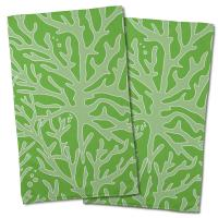 Sea Coral Hand Towel - Light Green, Green (Set of 2)