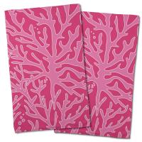 Sea Coral Hand Towel - Light Pink, Dark Pink (Set of 2)