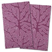 Sea Coral Hand Towel - Plum, Rose (Set of 2)