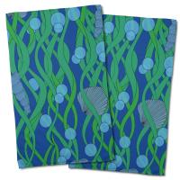 Green Seaweed Hand Towel (Set of 2)
