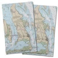 FL: Big Pine Key, FL Nautical Chart Hand Towel (Set of 2)