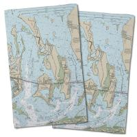 FL: Torch Keys, Ramrod Key, FL Nautical Chart Hand Towel (Set of 2)
