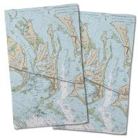 FL: Summerland Key, FL Nautical Chart Hand Towel (Set of 2)