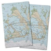 FL: Sugarloaf Key, FL Nautical Chart Hand Towel (Set of 2)