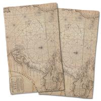Old World Nautical Chart Hand Towel (Set of 2)