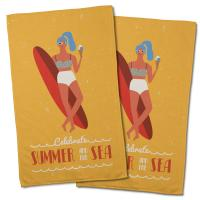 Surfer Girl Val Hand Towel (Set of 2)
