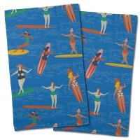 Surfer Girl Surf Party Hand Towel (Set of 2)