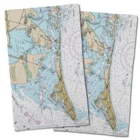 FL: Anna Maria Island, FL Nautical Chart Hand Towel (Set of 2)
