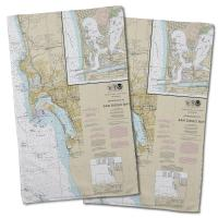 CA: San Diego, CA Nautical Chart Hand Towel (Set of 2)