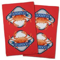 Crab Seafood Hand Towel (Set of 2)