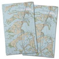 FL: Sugarloaf, Cudjoe & Summerland Keys, FL Nautical Chart Hand Towel (Set of 2)