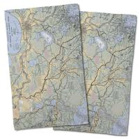 LA: New Orleans, LA Nautical Chart Hand Towel (Set of 2)