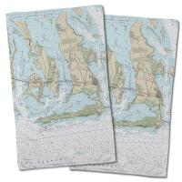 FL: Ramrod, Torch & Big Pine Keys, FL Nautical Chart Hand Towel (Set of 2)