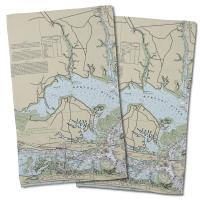NC: Morehead City, NC Nautical Chart Hand Towel (Set of 2)