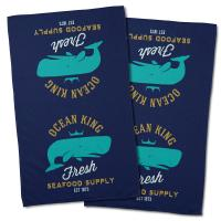 Ocean King Whale Hand Towel (Set of 2)
