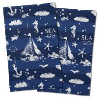 Blue Sea Mix Hand Towel (Set of 2)