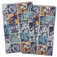 Surfing Patchwork Hand Towel (Set of 2)