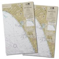 CA: Santa Monica Bay, Venice, Marina del Rey, CA Nautical Chart Hand Towel (Set of 2)