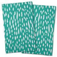 Hipster Aqua Hand Towel (Set of 2)