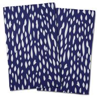 Hipster Navy Hand Towel (Set of 2)
