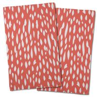 Hipster Coral Hand Towel (Set of 2)