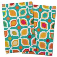 Vintage Geometric Hand Towel (Set of 2)