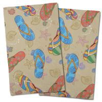 Beach Flip Flops Hand Towel (Set of 2)