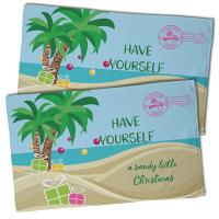 """Have Yourself A Sandy Little Christmas"" Hand Towel (Set of 2)"