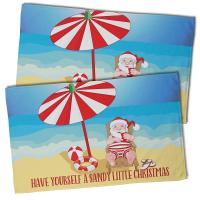 Beach Santa Christmas Hand Towel (Set of 2)