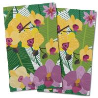 Orchid Garden Hand Towel (Set of 2)